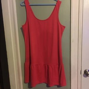 Coral Colored Tank Top Dress